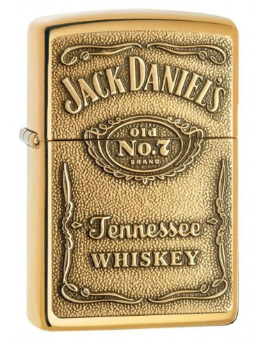 Zippo Lighter High Polish Brass Jack Daniels Label