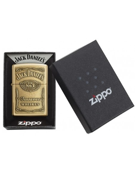 Zippo Upaljač High Polish Brass Jack Daniels Label