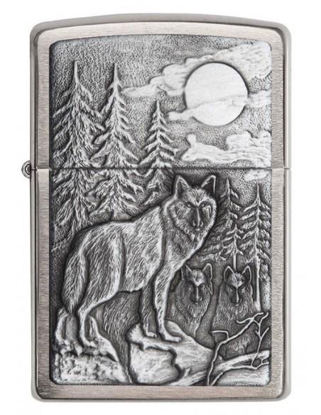 Zippo Upaljač Timberwolves Emblem Brushed Chrome