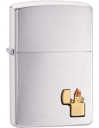 Zippo Upaljač Brushed Chrome Zippo Lighter Emblem