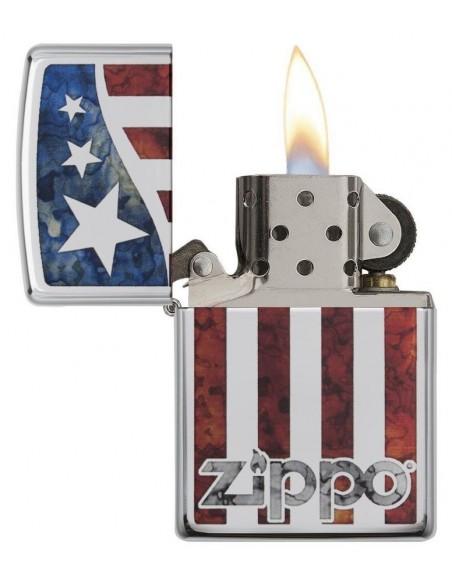 Zippo Lighter High Polish Chrome Zippo US Fla