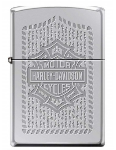 Zippo Upaljač High Polish Chrome Harley Davidson Bar & Shield Logo Patter
