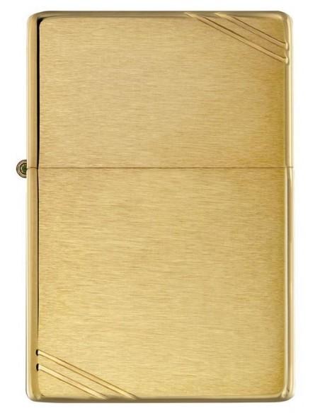 Zippo Lighter Vintage Brushed Brass Slashes