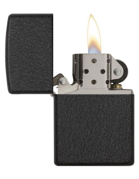 Zippo Lighter Classic Black Crackle