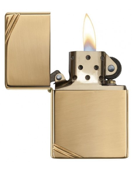 Zippo Lighter Vintage High Polish Brass