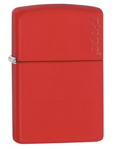 Zippo Lighter Classic Red Matte Zippo Logo