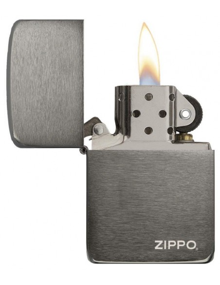Zippo Lighter Replica 1941 Black Ice Zippo Logo