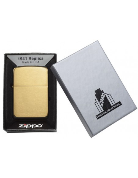 Zippo Lighter Replica 1941 Brushed Brass