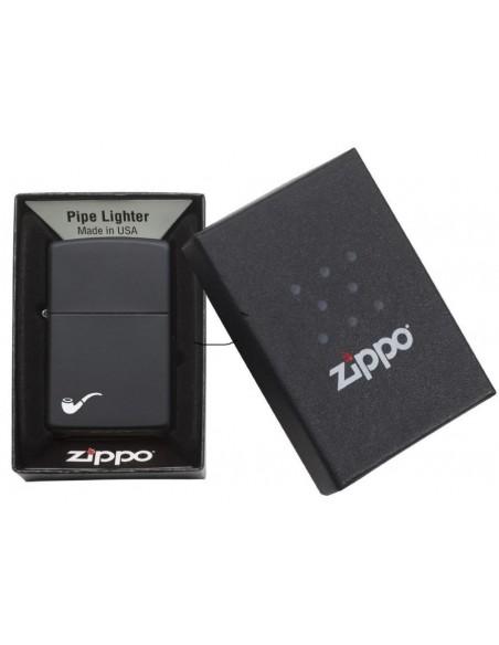 Zippo Lighter Classic Black Matte Pipe