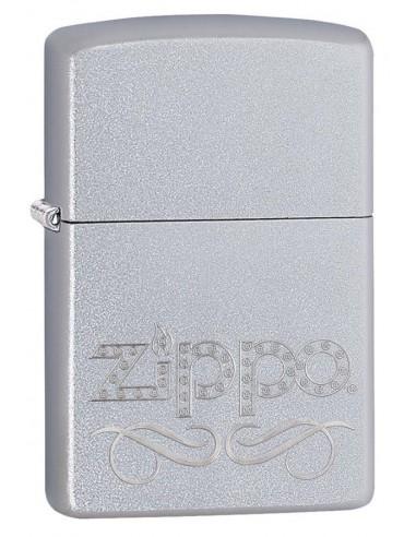 Zippo Lighter Classic Satin Chrome Zipoo Scroll