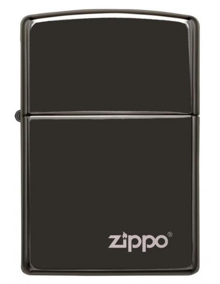 Zippo Lighter Black Ebony Zippo Logo