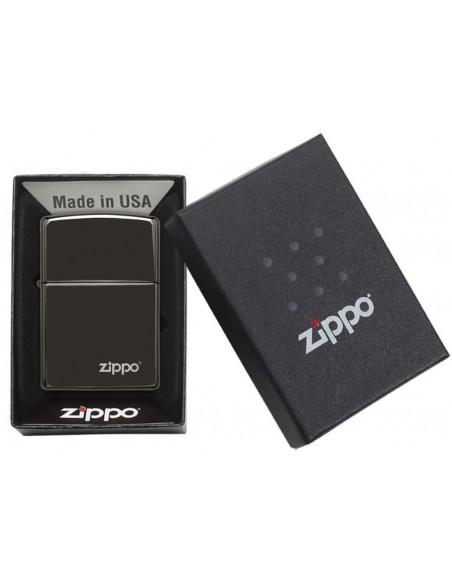 Zippo Upaljač Black Ebony Zippo Logo