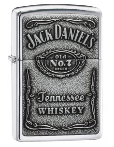 Zippo Lighter Jack Daniels Emblem High Polish Chrome