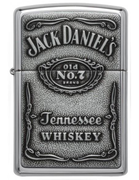 Zippo Lighter Jack Daniels Emblem High Polish Chrome