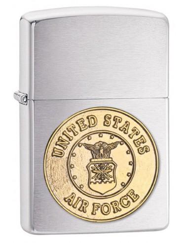Zippo Upaljač Brushed Chrome US Air Force Crest Emblem