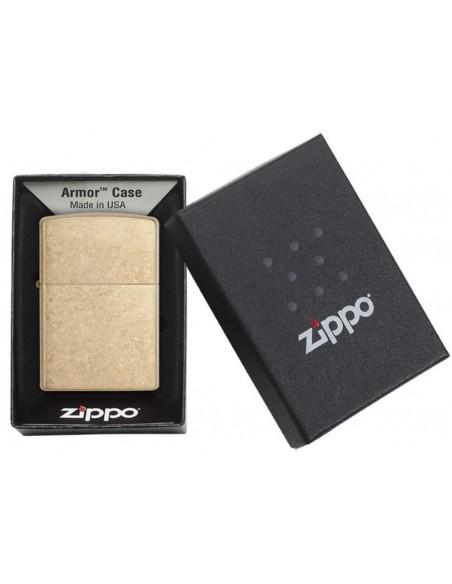 Zippo Lighter Armor Tumbled Brass