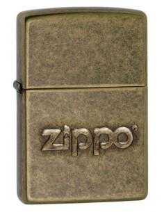Zippo Lighter Zippo Logo Stamp Antique Brass