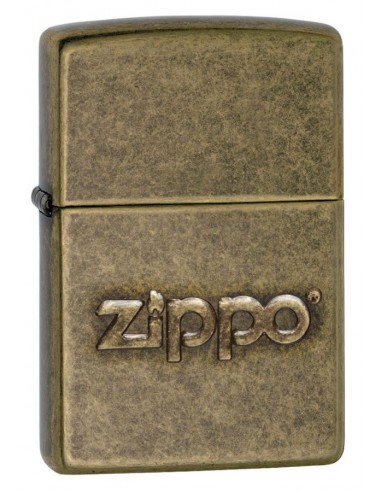 Zippo Lighter Zippo Logo Stamp Antique Brass