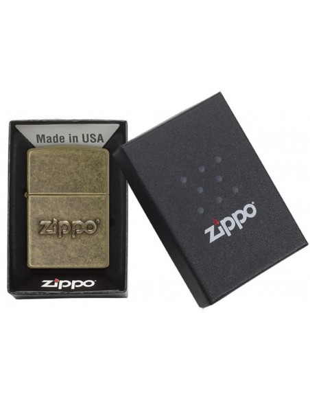 Zippo Upaljač Zippo Logo Stamp Antique Brass