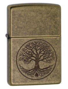 Zippo Upaljač Antique Brass Tree of Life