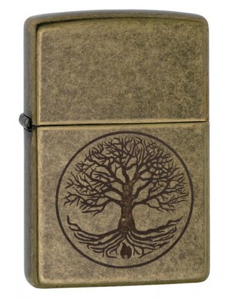 Zippo Lighter Antique Brass Tree of Life