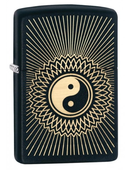 Zippo Lighter Black Matte Yin and Yang 2