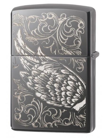 Zippo Upaljač Black Ice High Polish Ice Filigree Flame & Wings Design