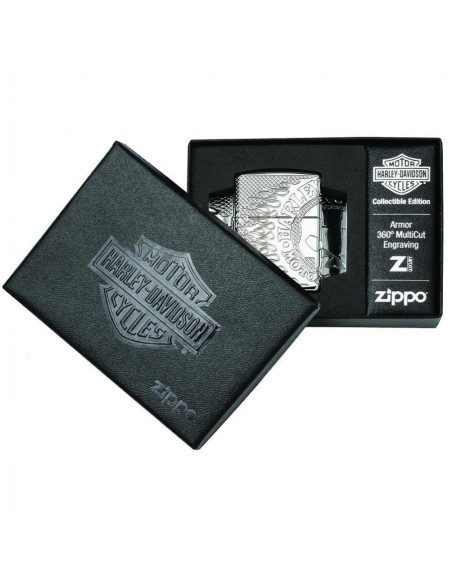 Zippo Lighter Armor High Polish Tiger Engraved