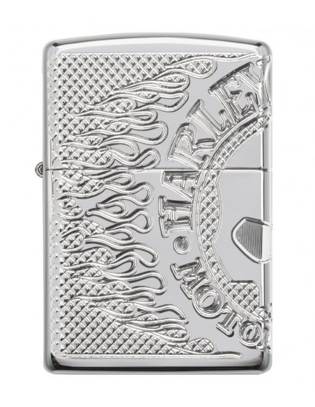Zippo Lighter Armor High Polish Tiger Engraved