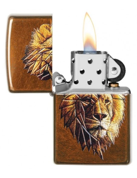 Zippo Lighter Toffee Street Chrome