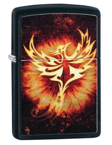 Zippo Lighter Black Matte Phoenix Design 2