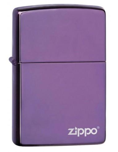 Zippo Lighter Abyss  Purple Ice Zippo Logo