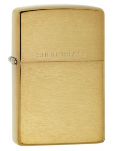 Zippo Lighter Brushed Brass Solid Brass