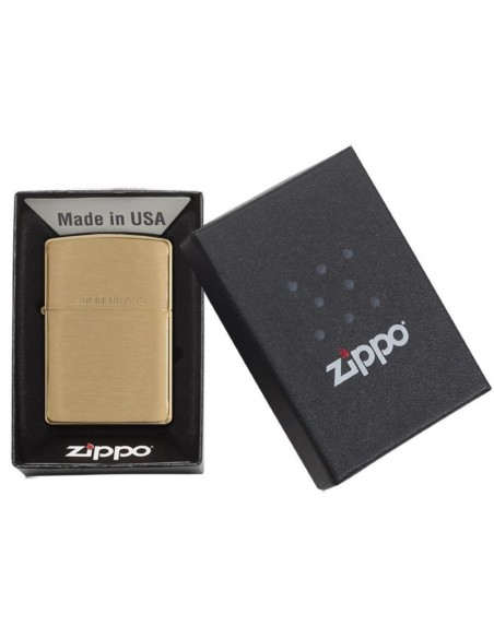 Zippo Upaljač Brushed Brass Solid Brass