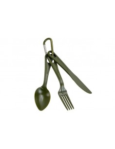 Sturm Mil-Tec Cutlery Set With A Spring Hook Olive