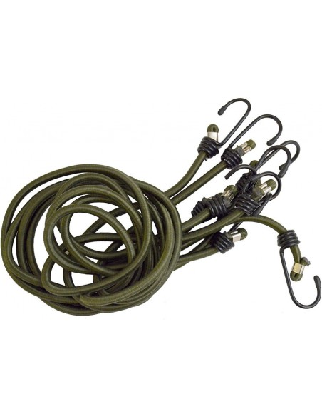 Bcb Set of 4 Rubber Ropes Bungees Olive