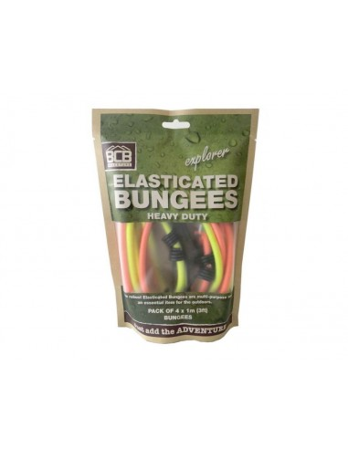 Bcb Set of 4 Rubber Ropes Bungees