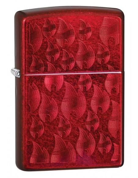 Zippo Lighter Iced Zippo Flame Design