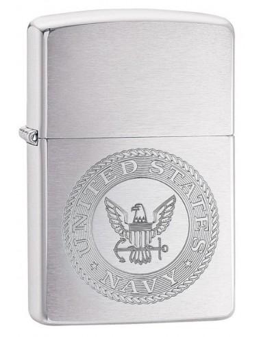 Zippo Lighter Classic Brushed Chrome U.S. NAVY