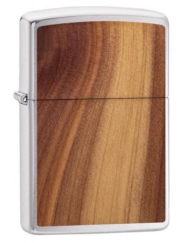 Zippo Lighter Brushed Chrome Woodchuck Usa Herringbone Sweep