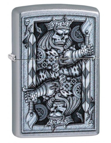 Zippo Lighter Street Chrome Steampunk King Design