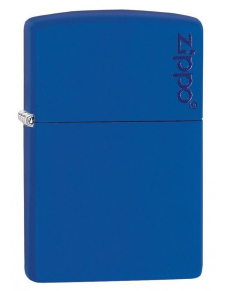 Zippo Lighter Royal Blue Matte Zippo Logo