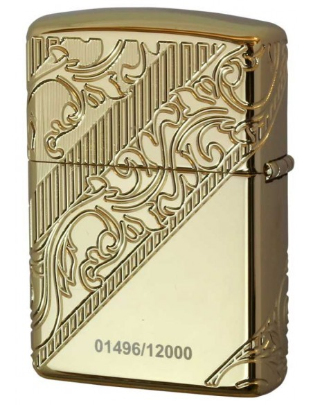 Zippo LighterArmor Gold Plated Golden Scroll Collectible 2018