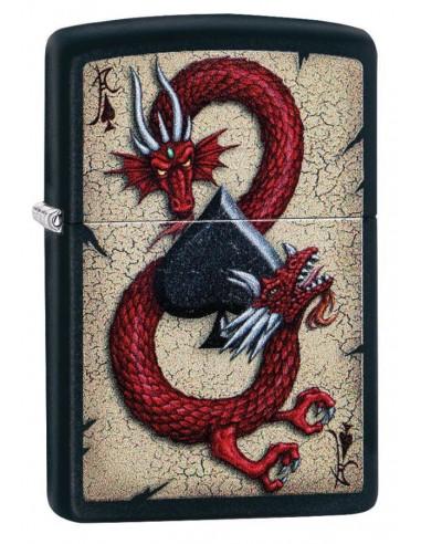 Zippo Upaljač Black Matte Dragon Ace Design