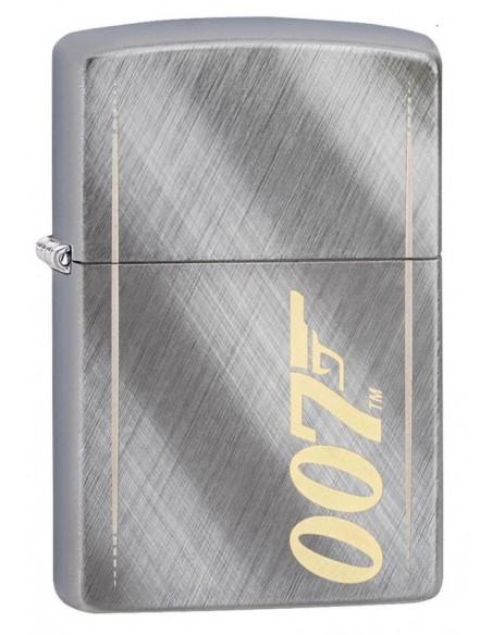 Zippo Lighter Diagonal Wave Brushed Chrome James Bond 007™