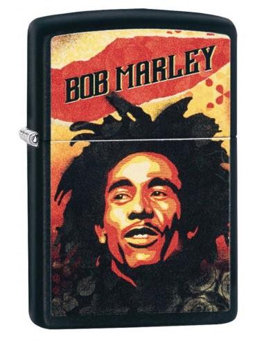 Zippo Lighter Black Matte Bob Marley