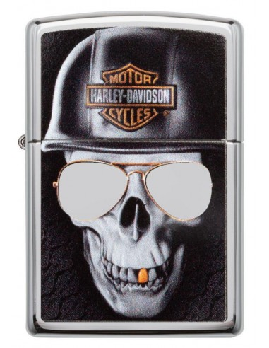 Zippo Upaljač High Polish Chrome Harley-Davidson® Skull