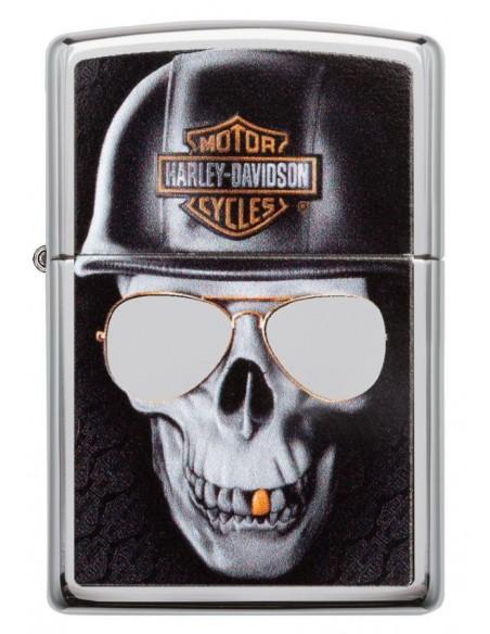 Zippo Lighter High Polish Chrome Harley-Davidson® Skull