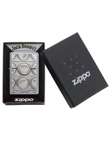 Zippo Lighter Street Chrome Jack Daniels Suprise Emblem
