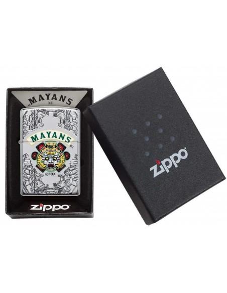 Zippo Lighter Armor Armor High Polish Chrome Mayans M.C.